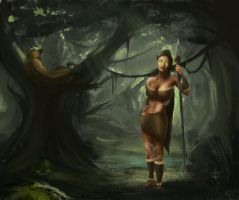 Nidalee - LoL fan art by gogo1409