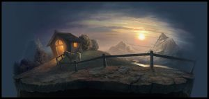 The Stable and the Sunrise... by madpainters
