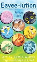 Button Set: Eevee-lutions by Shalie