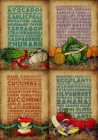 Seasonal Food Chart Poster by my-name-is-annie