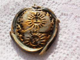 Handmade medallion Fimo by JewelryPeace