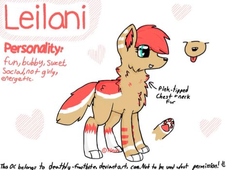 Leilani - Official Reference Sheet by NeonPlaysMincecraft