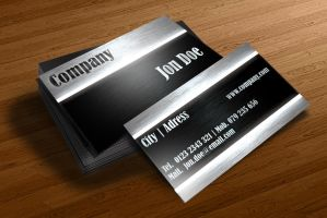 Brushed Metal Business Card Design by BorceMarkoski
