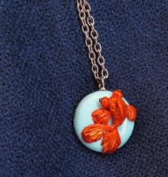 Goldfish Necklace by FlowerLandBySaraMax