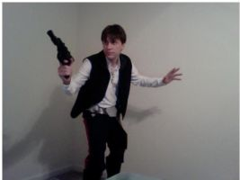 Han Solo Test Shot-Poster Pose by Miss-Marquin
