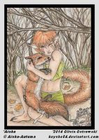 Guardian Spirit (ACEO) by Keyshe54