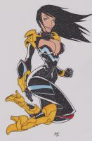 Ame-comi Donna Troy by mikehegaman