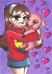 Mabel and Mr Waddles by HystericalMellotron