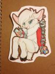 Large Chibi Badge::Scrumpet by ThatOneDumbDeer