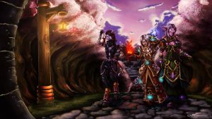 Commission: WoW- A Job Well Done on Some Accounts by Esuka
