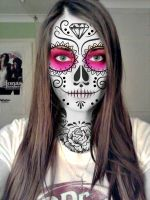 Sugar skull portrait by mexicourtney