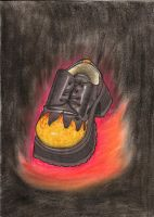 SHOE OF FLAMING GLORY by explodingmuffins