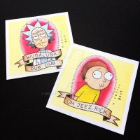 Rick and Morty Mini Prints by Michelle Coffee by misscoffee