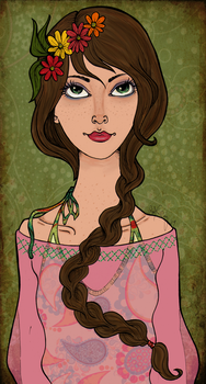 Paisley Hippy Girl by LallaBelle
