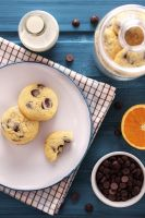 Orange chocolate chip cookies by kupenska
