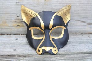 Leather Bast Mask by SilverCicada