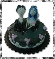Corpse bride cake by akr1