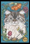 Minnie The Cat Framed Portrait Series 7 of 9 by natamon