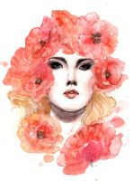 Poppies by Reine-Haru
