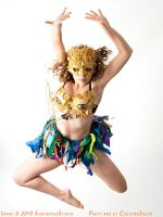 Party Bra Gold by CostumeSalon