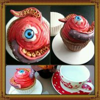 Corrupt Cake Sculpture by Strange of Heart by MarcMacabre