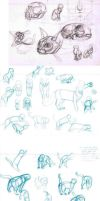 cat sketches by sofmer