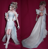Papercraft Yuna Wedding Dress by Xanokah