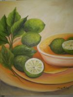 Lemons still life by Meggy-SJ