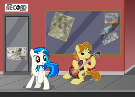MandoPony and Vinyl Scratch by Landon193