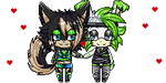 PixelCouple2 - Sam-the-wolf147 by Zemkaah95