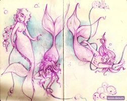 Moleskine Mermaids by Zoopaki
