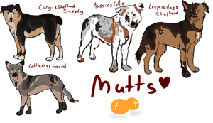 Mutt Adoptables by HowlingSpirit34
