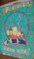 Bart Simpson and friends by JanetAnn