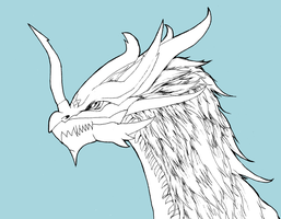 Dragon Lineart - Tiamat by DeadlyObsession