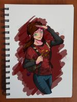 Day 144 The last of us Ellie by TomatoStyles