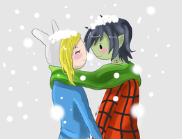 ~Fionna and marshall lee~ by HoneyHoneyfangirl