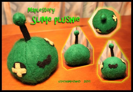 Maplestory: Slime Plushie by username0hi0
