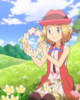 Serena with a Flowery Crown by TheKalosQueenSerena