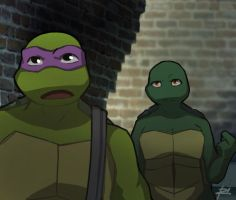 TMNT-Donnie and Filena  beginning by Netrorev