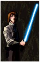 Old Luke Skywalker Art by thehaydenclone