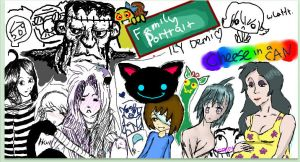 iScribble Family Portrait by JelloArms