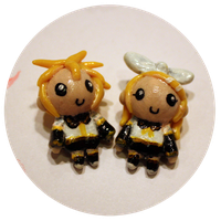 Rin and Len Charms by Kamiflor