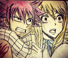 Natsu and Lucy by lulujweston