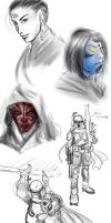 Star Wars doodles by TyrineCarver