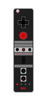 NES Wii Remote by gifteddeviant