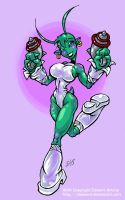 Dadward's Xixa by me colour by Gib-Pinups-And-Toons