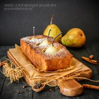 autumn cake with spicy pears by Pokakulka