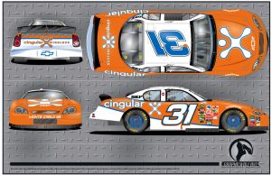 Cingular NASCAR layout by graphicwolf