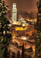 Verona under snow by Runfox