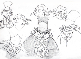 P-P-P-P Penguin Sketches by VanHinck